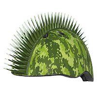 Boys C Preme Raskullz Digital Camouflage Mohawk Bike Helmet