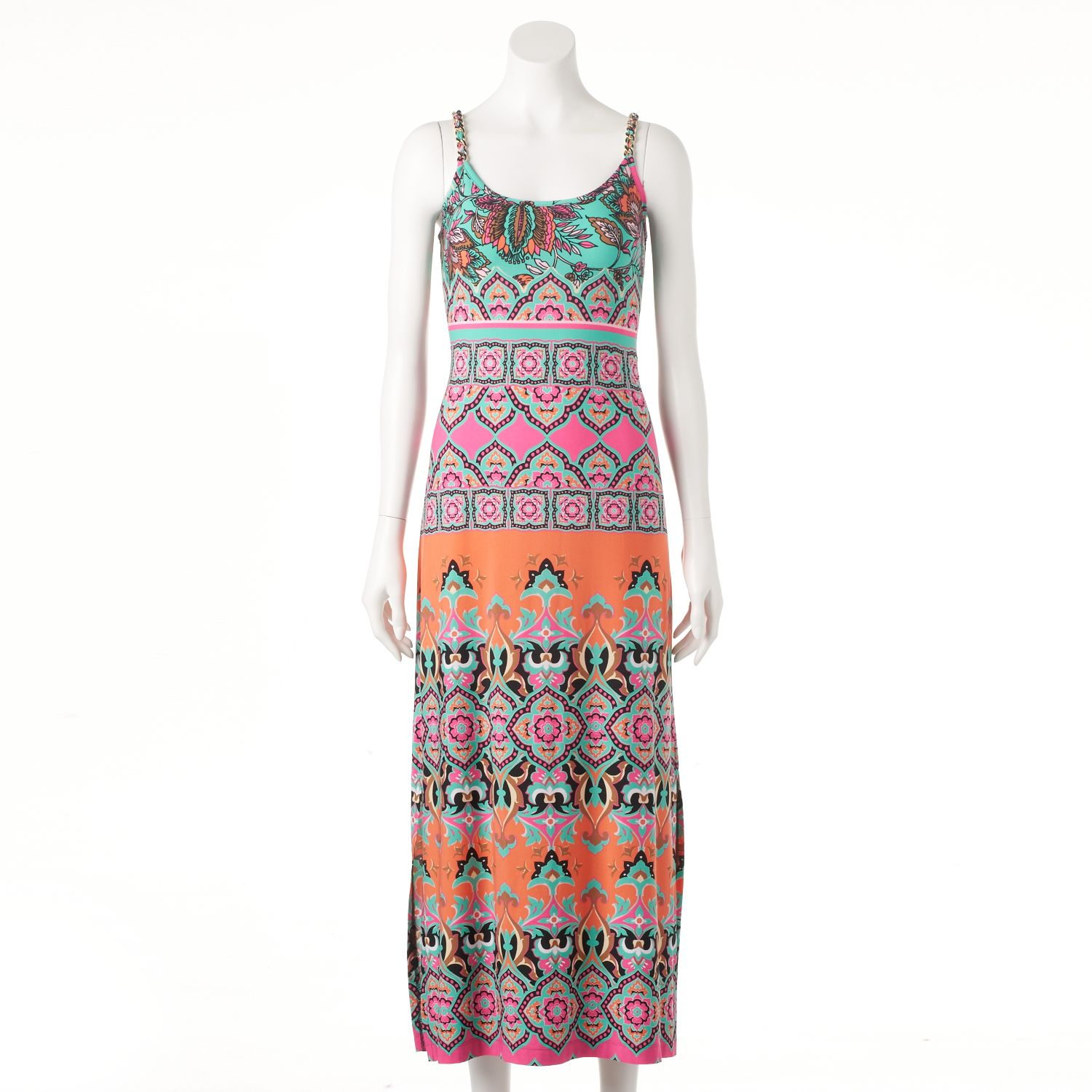 Womens MSK Abstract Print Maxi Dress