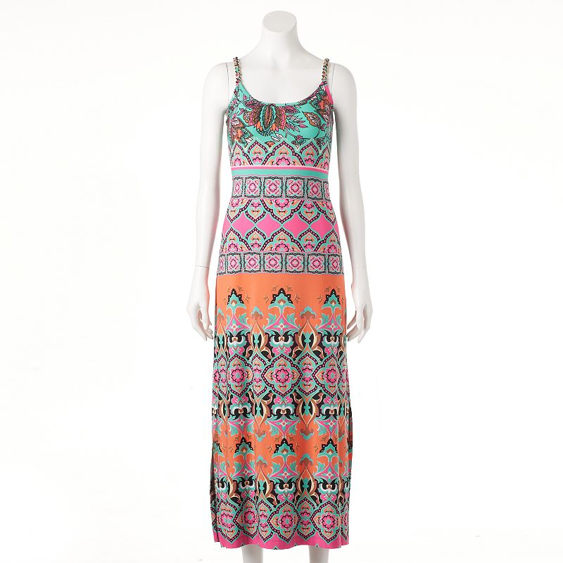 Women's MSK Abstract Print Maxi Dress