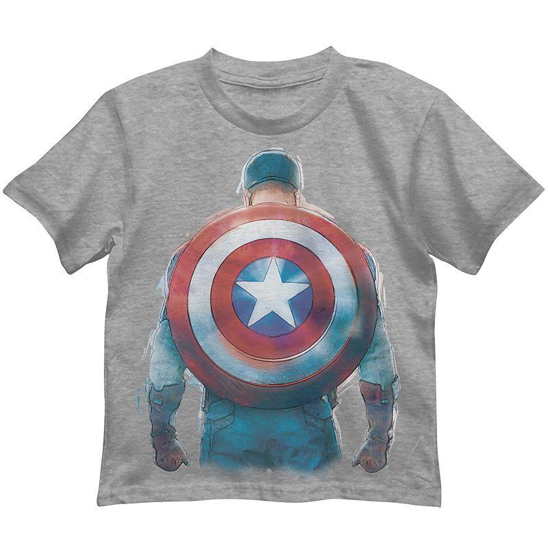 Boys 4-7 Marvel Captain America Shield Tee