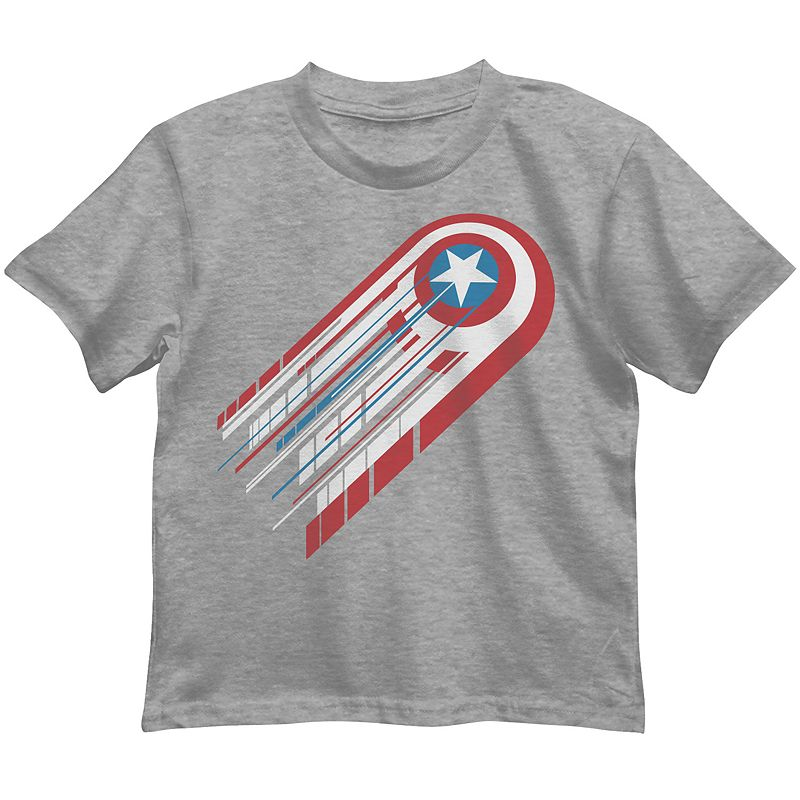 Boys 4-7 Marvel Captain America Shooting Shield Tee