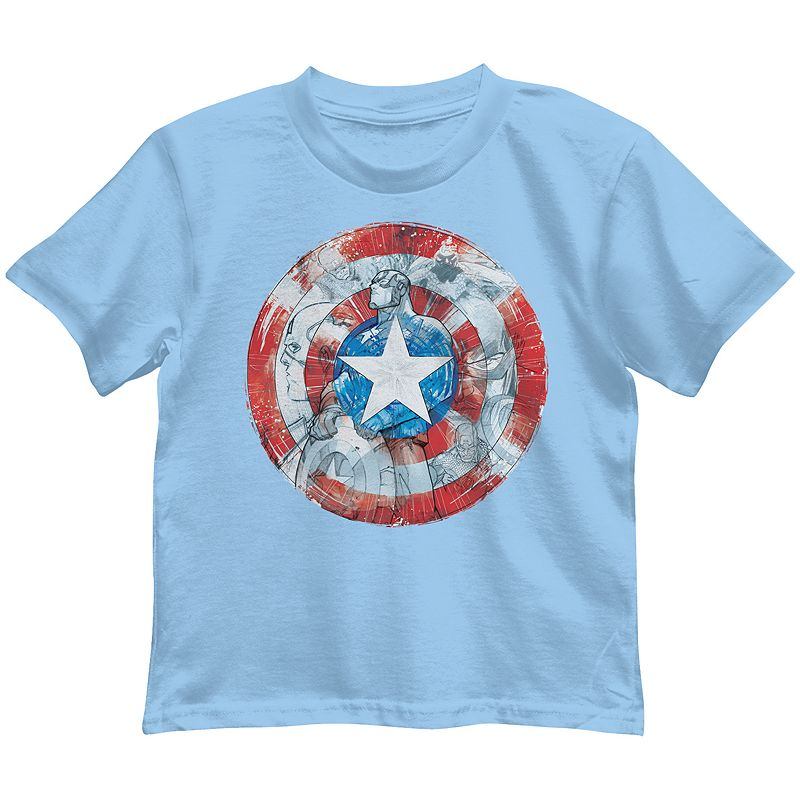 Boys 4-7 Marvel Captain America Shield Graphic Tee