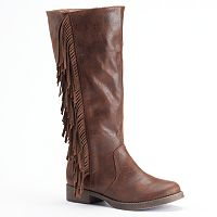 Mudd® Women's Fringe Riding Boots