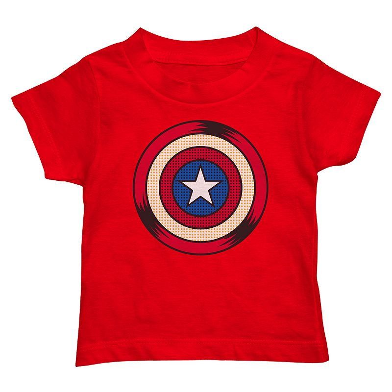 Toddler Boy Marvel Captain America Shield Graphic Tee