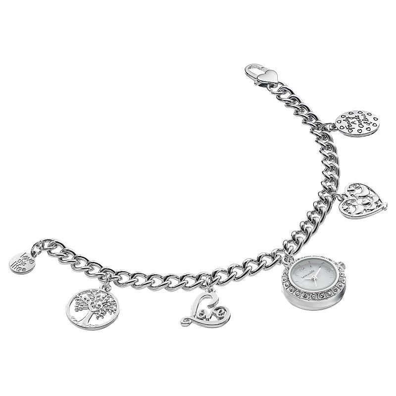 love this life Women's Crystal Family Tree Charm Watch