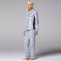 Women's Simply Vera Vera Wang Pajamas: Top Notch PJ Set