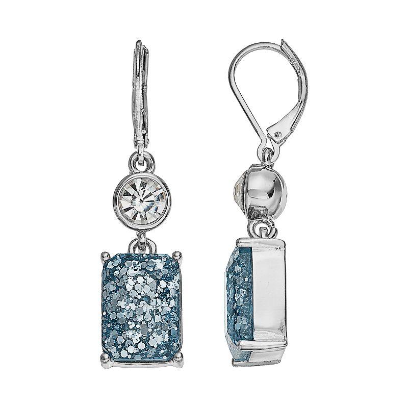 Dana Buchman Glitter Double Drop Earrings