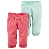Baby Girl Carter's 2-pk. Solid Cinched Pants