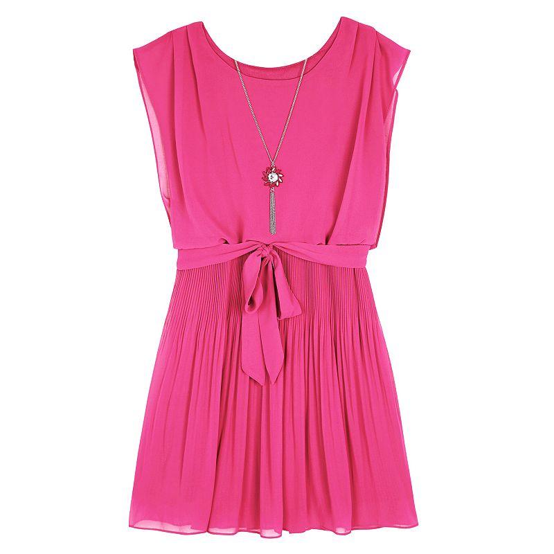 Girls 7-16 & Plus Size IZ Amy Byer Chiffon Pleated Dress