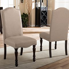 Baxton Studio Zachary Upholstered Dining Chair 2-piece Set  by
