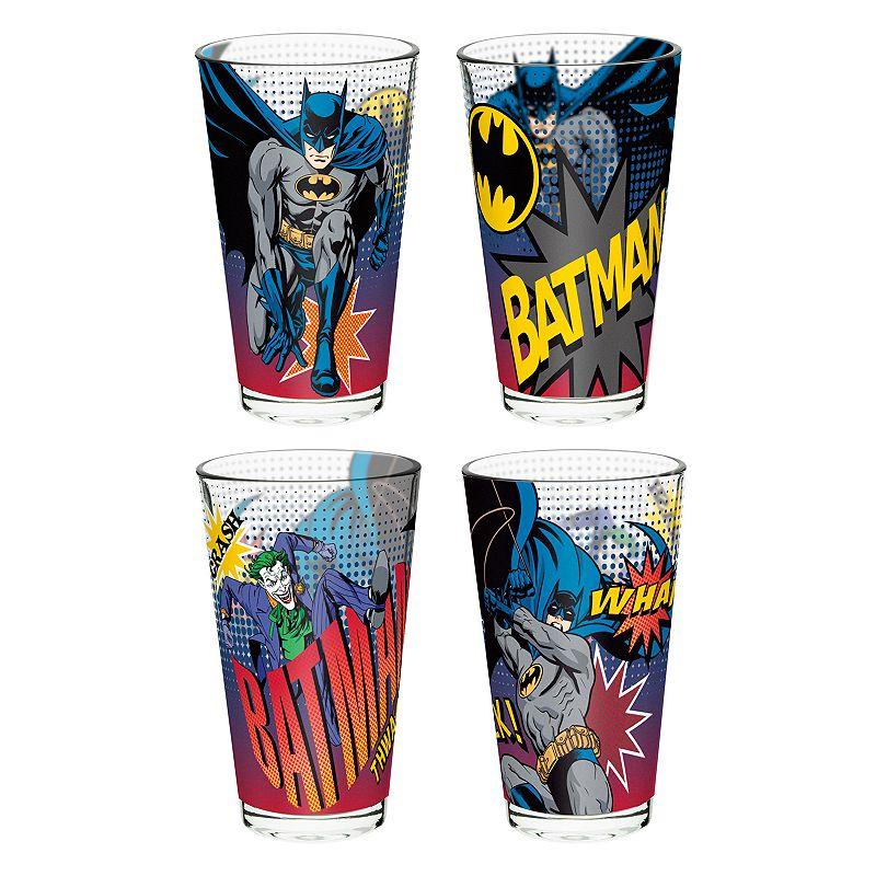 DC Comics Batman 4-pc. Glass Tumbler Set by Zak Designs