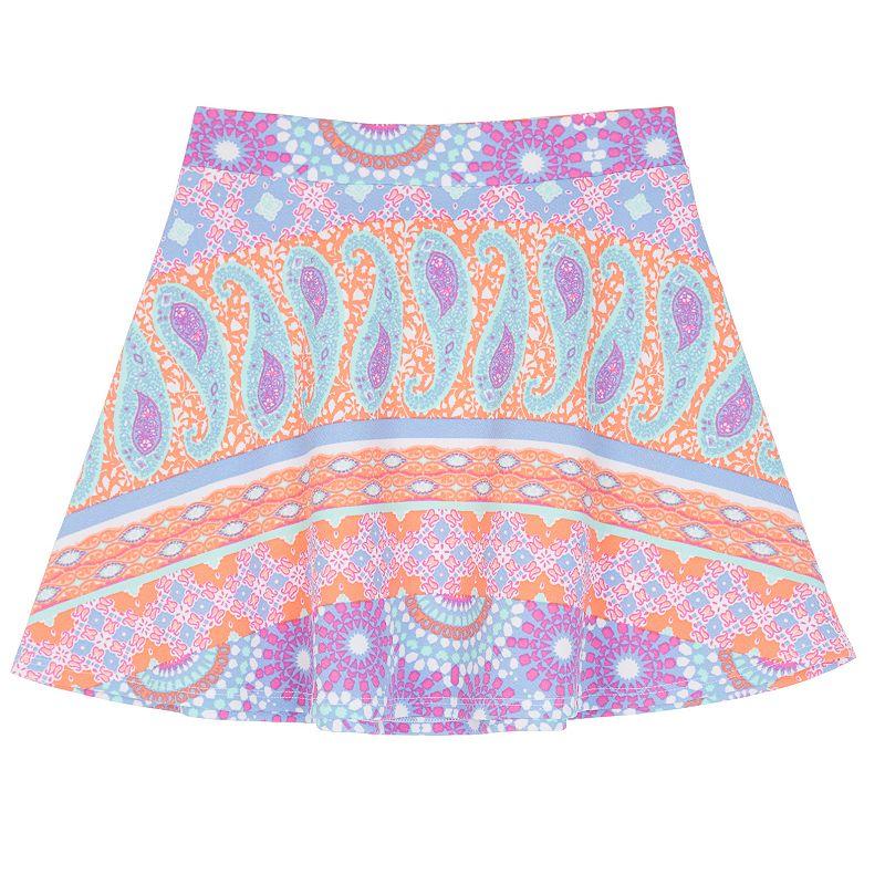 Girls 7-16 IZ Amy Byer Textured Paisley Skater Skirt