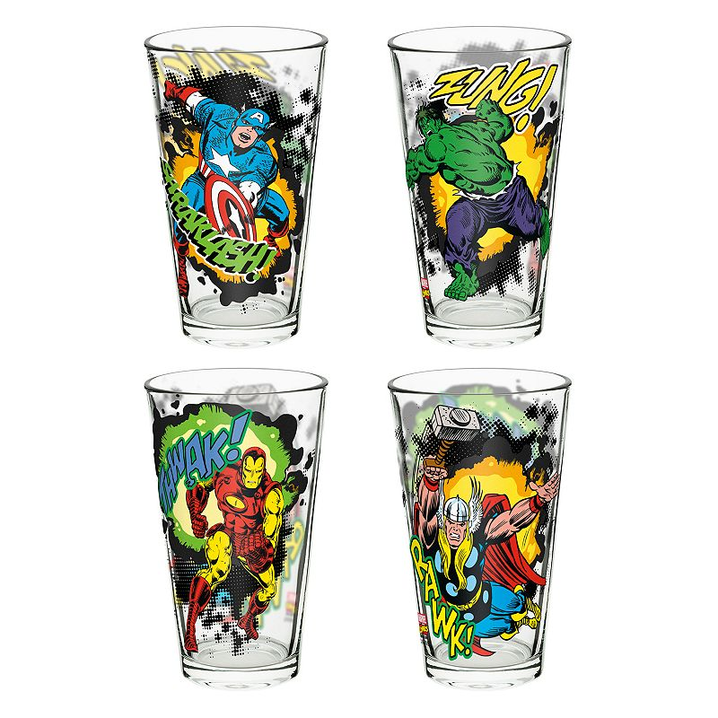 Marvel Comics 4-pc. Glass Tumbler Set by Zak Designs