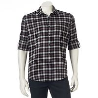 Men's Apt. 9® Modern-Fit Plaid Flannel Button-Down Shirt