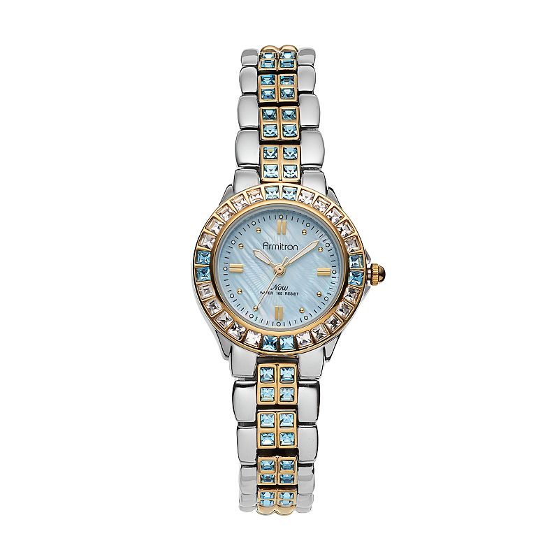 Armitron Women's Crystal Two Tone Watch - 75/3689BMTT