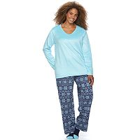 Plus Size Croft & Barrow® Pajamas: Soft & Cozy PJ Gift Set with Socks