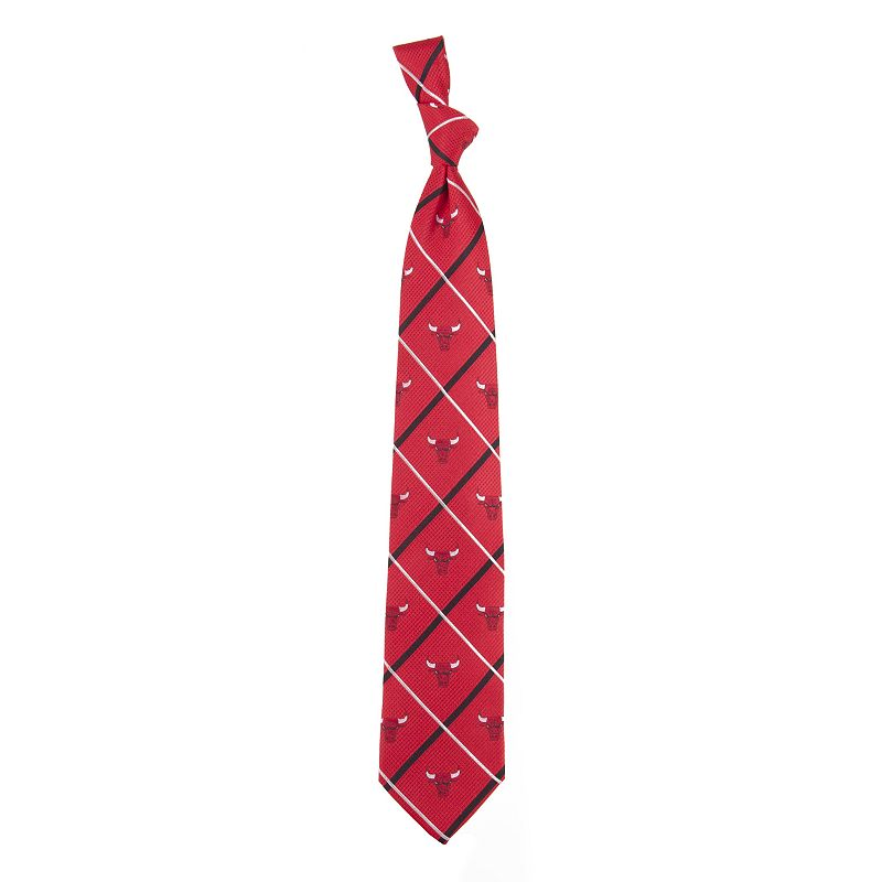 Adult NBA Silver Line Silk Tie