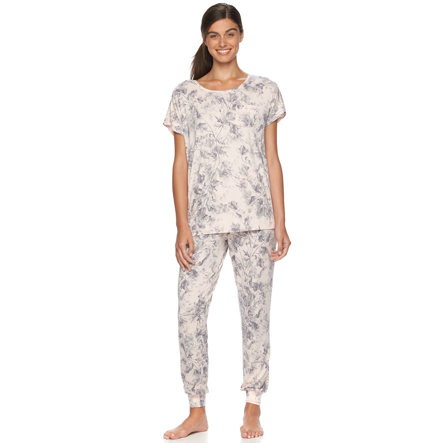 Womens Apt. 9? Pajamas: Scoopneck Jogger PJ Set