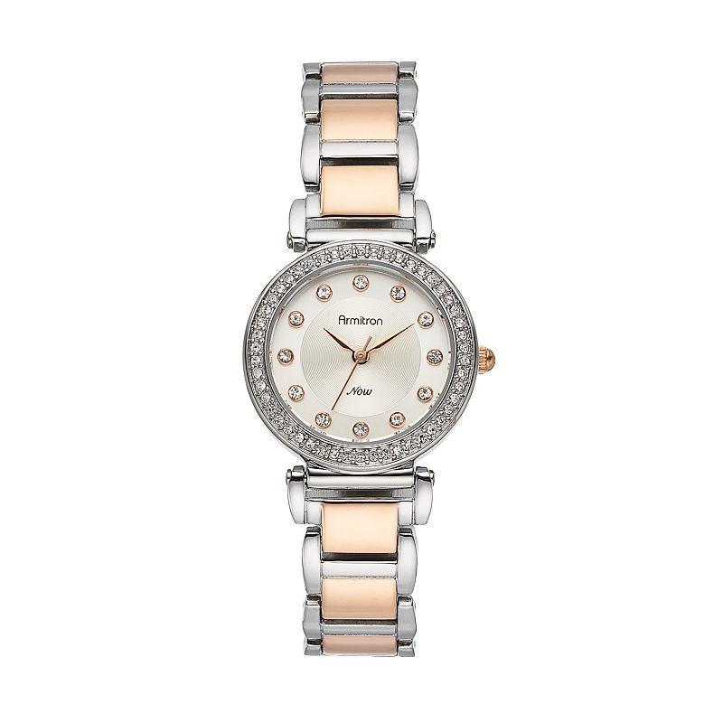 Armitron Women's Crystal Two Tone Watch - 75/5259SVTR