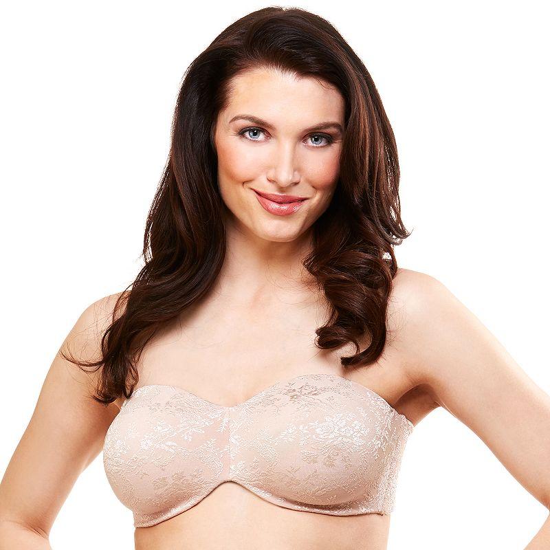 Lunaire Bra: New York Lace Full-Figure Strapless Bra 17512
