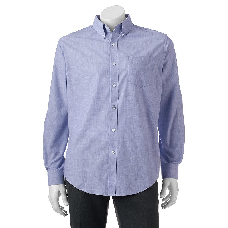 Big & Tall Croft & Barrow® Classic-Fit Patterned Easy-Care Button-Down Shirt