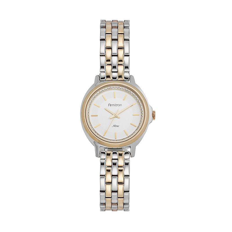 Armitron Women's Crystal Two Tone Watch - 75/5260SVTT