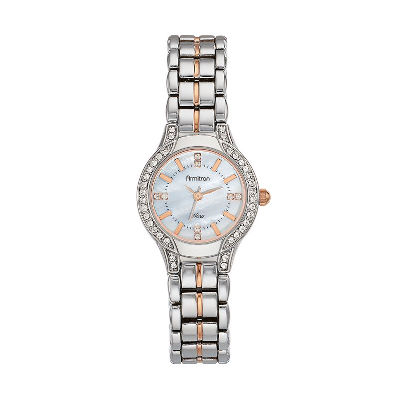 Armitron Women's Crystal Two Tone Watch - 75/5291MPTR