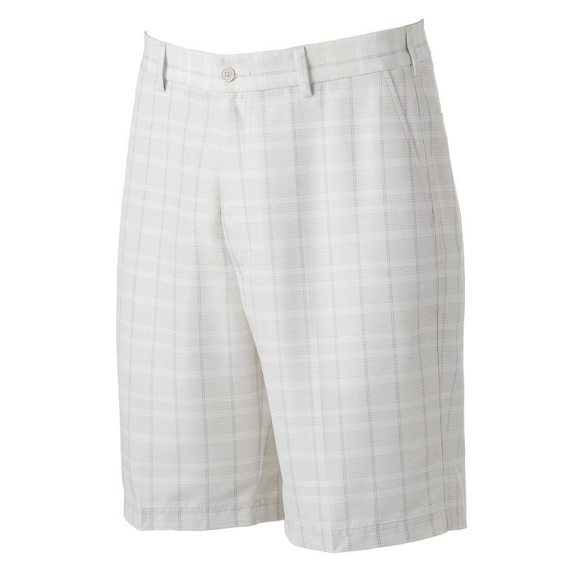 Men's Pebble Beach Classic-Fit Plaid Performance Golf Shorts