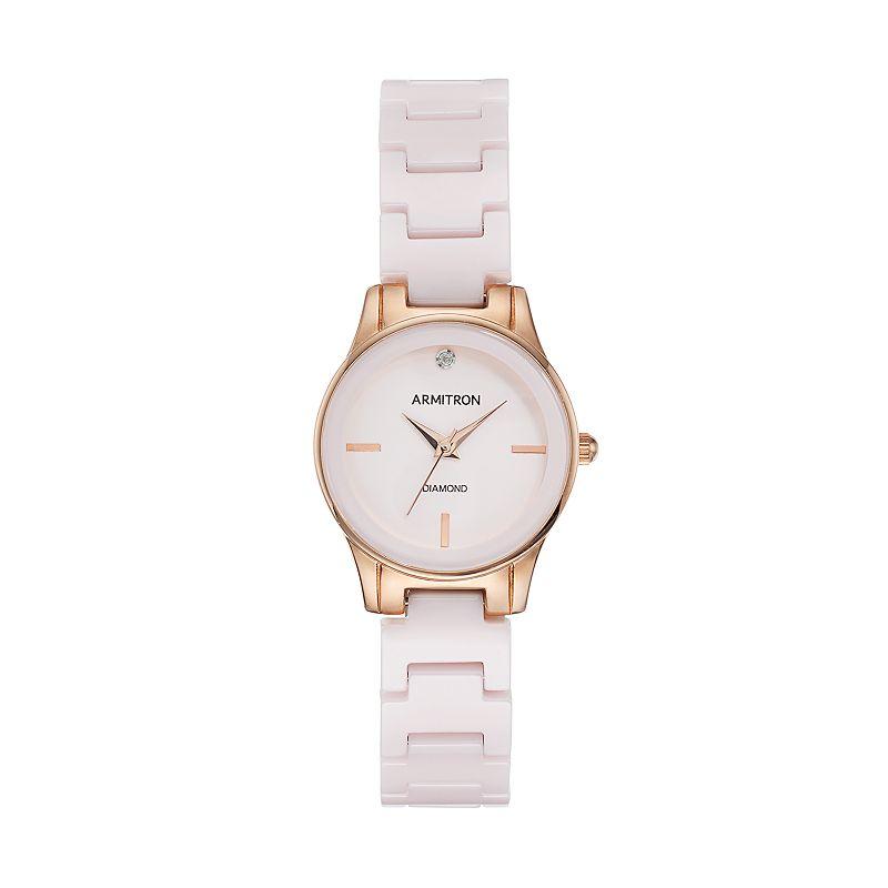Armitron Women's Diamond Ceramic Watch - 75/5348BHRG