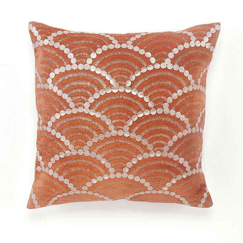 BiniChic Terracotta Fishscale Throw Pillow