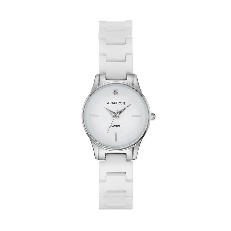 Armitron Women's Diamond Ceramic Watch - 75/5348WTSV