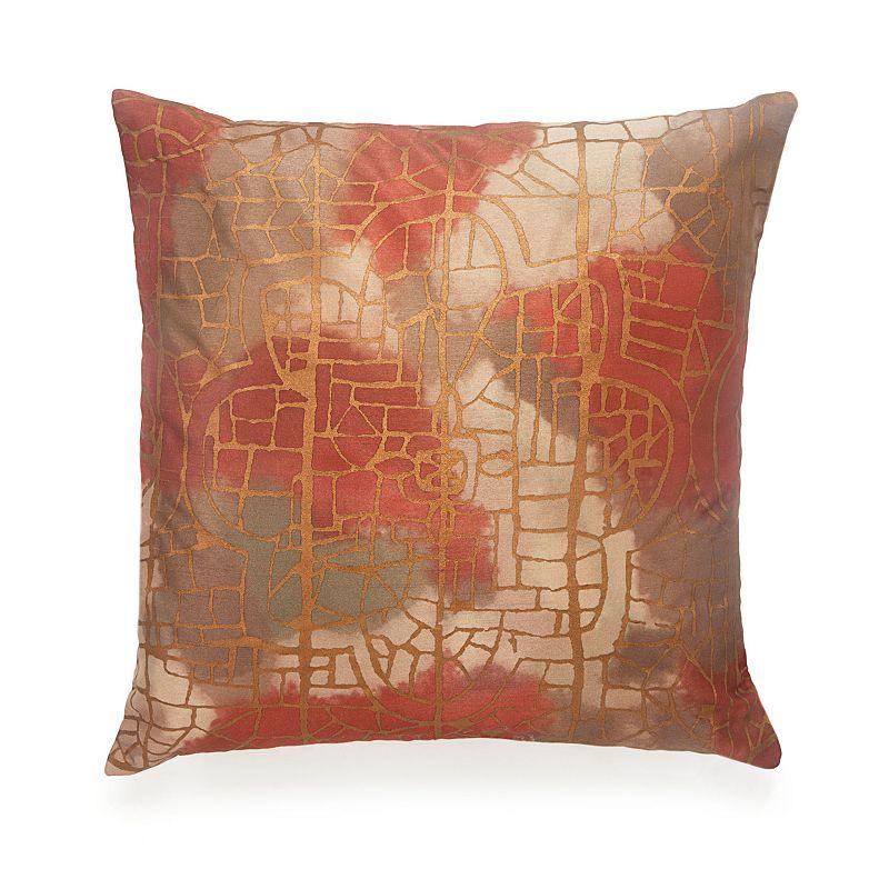 BiniChic Terracotta Stained Glass Throw Pillow
