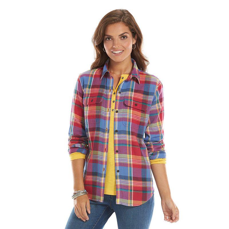 Women's Chaps Plaid Shirt
