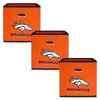 Denver Broncos 3-Pack Storeits Fabric Storage Drawers