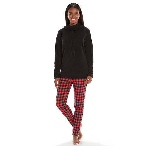 Women's SONOMA Goods for Life™ Pajamas: Microfleece Cowlneck Pajama Set