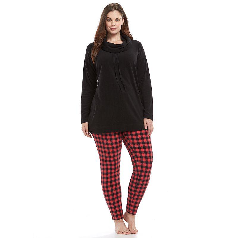 Plus Size SONOMA Goods for Life™ Pajamas: Microfleece Cowlneck Pajama Set