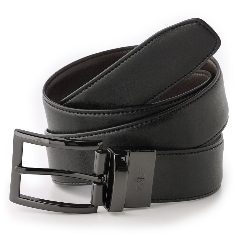Big & Tall Dockers Reversible Edge Stitch Leather Belt