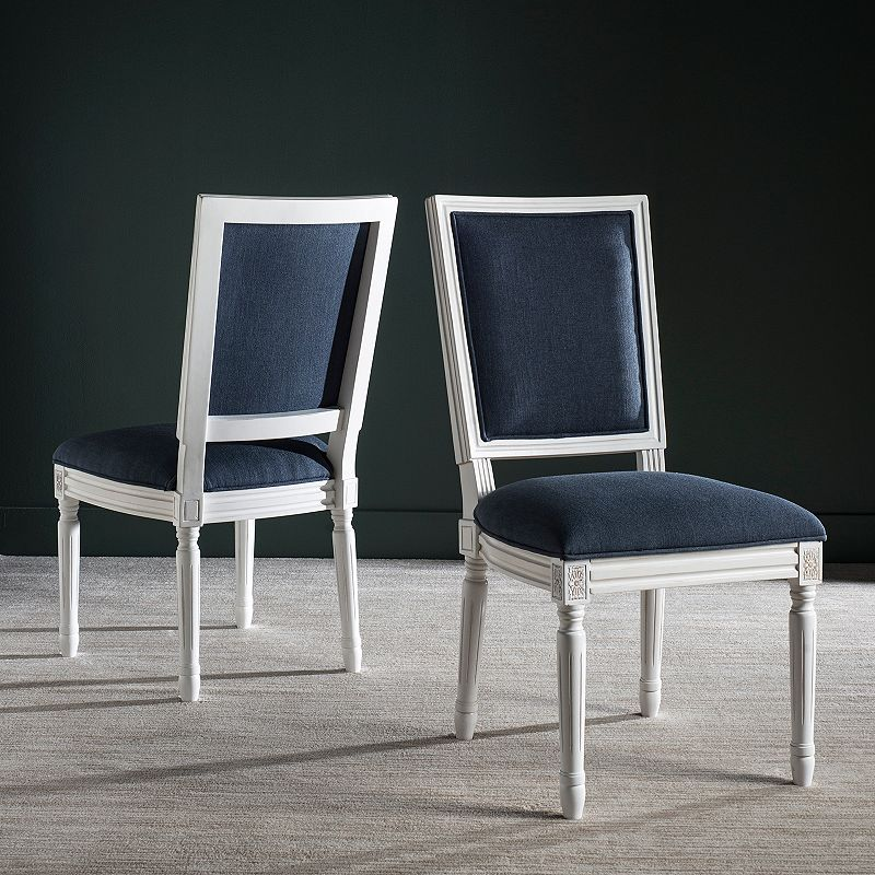 Safavieh Buchanan Navy Dining Chair 2-piece Set