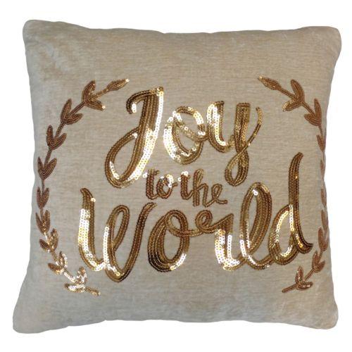 St. Nicholas Square® ''Joy to the World'' Throw Pillow