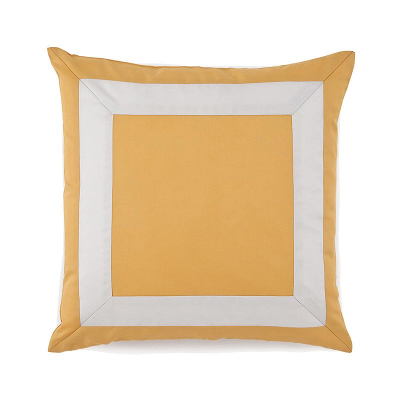 Jill Rosenwald Plimpton Flame Mitered Frame Throw Pillow