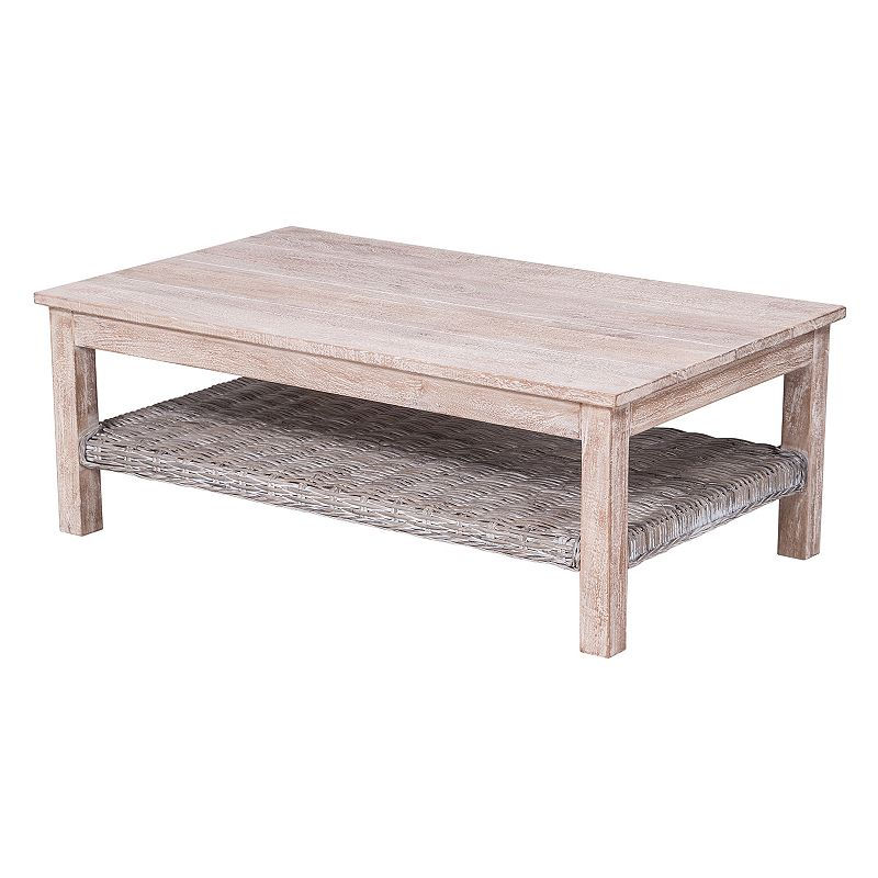 Manelin Coffee Table White Washed Safavieh Dealtrend