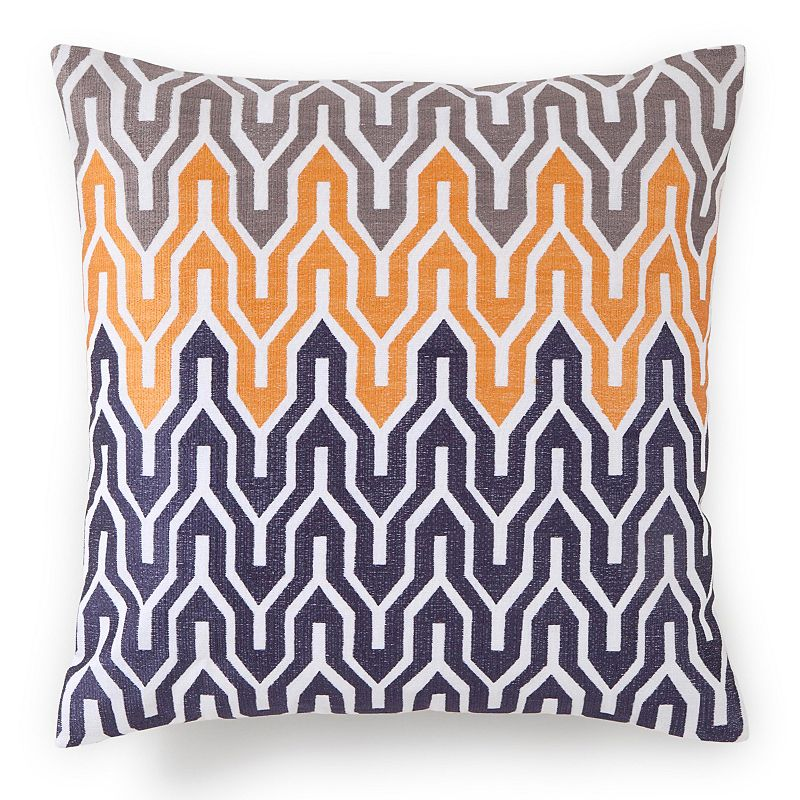 Jill Rosenwald Plimpton Flame All Over Embroidered Flame Throw Pillow