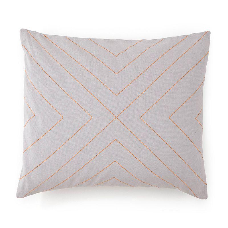 Jill Rosenwald Plimpton Flame Top Stitched Throw Pillow