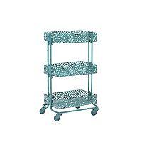 Linon Floral Metal Mobile Cart
