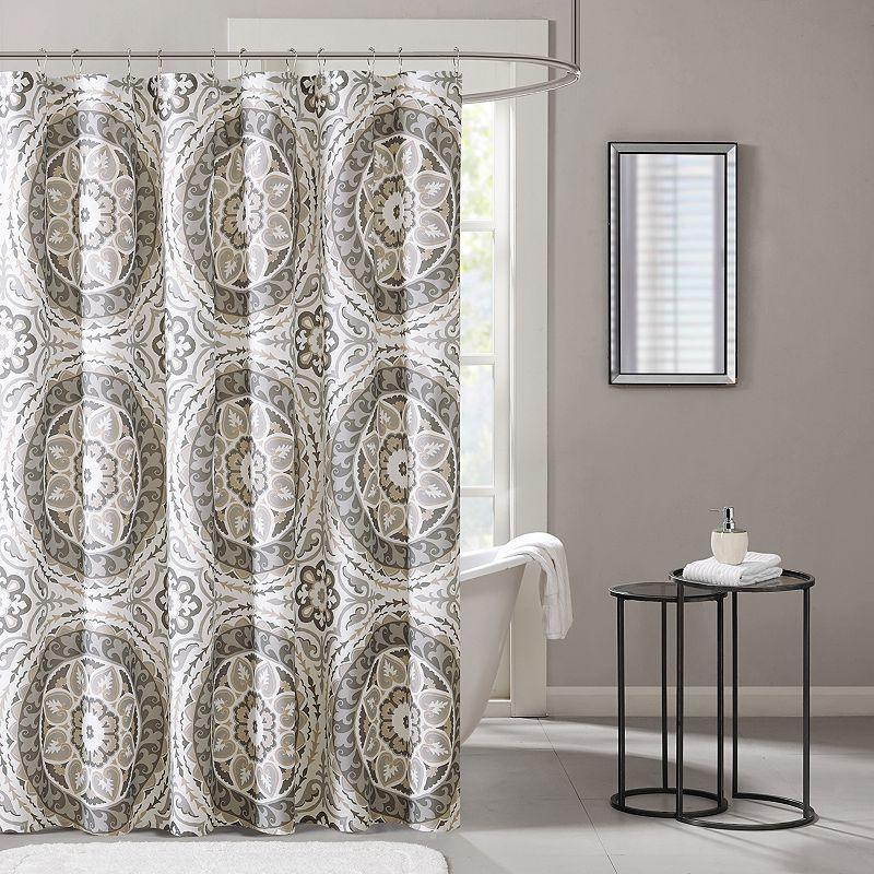 Madison Park Essentials Medallion Shower Curtain