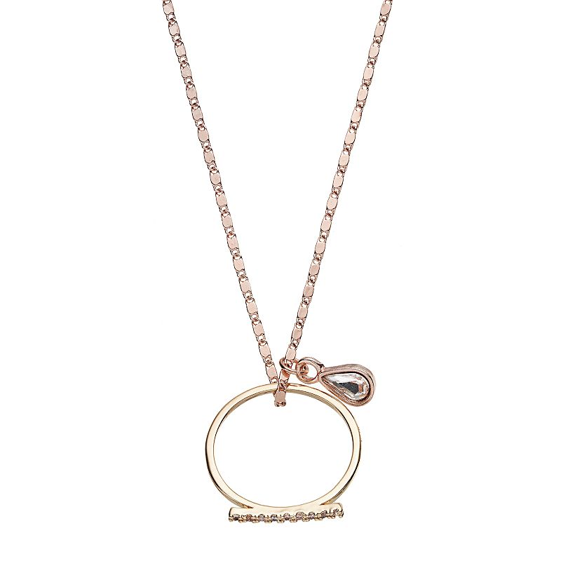 Gold tone bar necklace kohl 39 s for Kohls jewelry mens rings