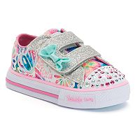 Skechers Twinkle Toes Shuffles Baby Love Toddler Girls' Light-Up Shoes