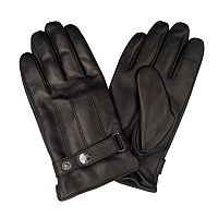 Men's Dockers Leather Touchscreen Gloves