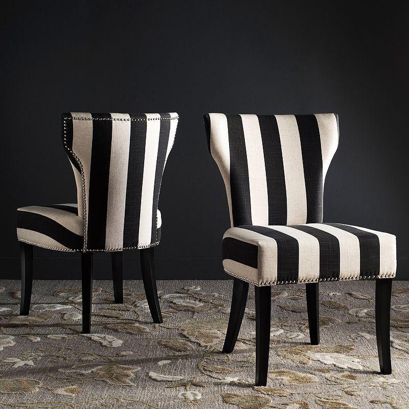 Safavieh Striped Accent Chair 2-piece Set