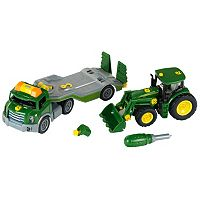 John Deere Take-A-Part Transporter & John Deere Take-A-Part Tractor Set by Theo Klein